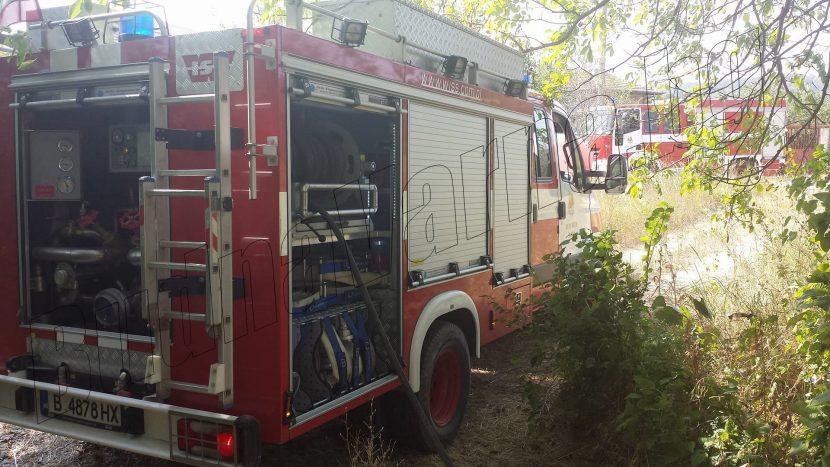 Живущи в м-т Сълзица помагат на пожарникарите (видео)