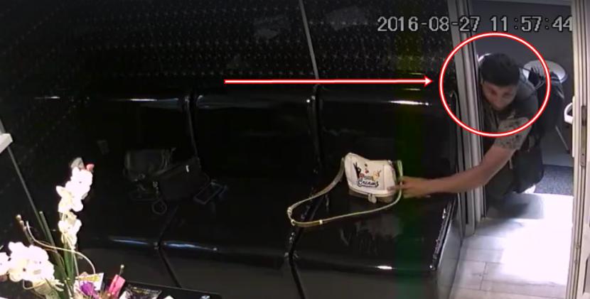 Първо в BudnaVarna.bg: мъж открадна дамска чанта (видео)