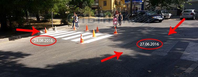 Отново боядисват пешеходните пътеки в Аспарухово