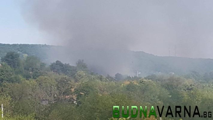 Първо в  BudnaVarna.bg: горя вила над Военна болница (видео)