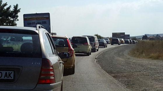 Блокада на пътя Бургас – Варна