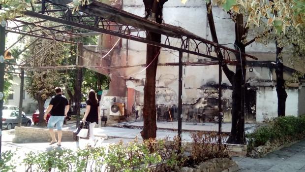 Разчистиха останките от изгорялото заведение