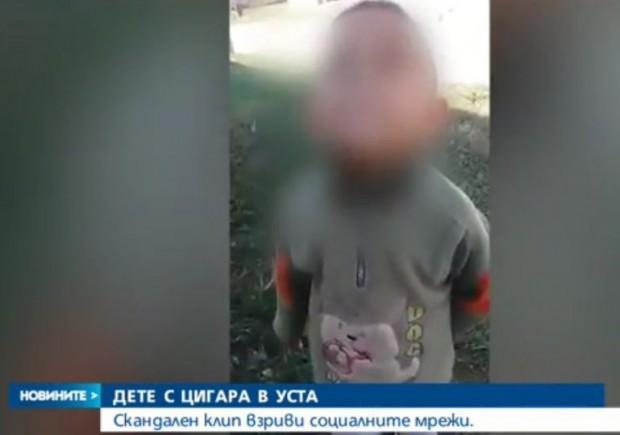 4-годишно дете от Варненско с цигара в уста взриви социалните мрежи