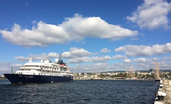 """207-метровият """"Boudicca"""" пристига на Морска гара днес"""