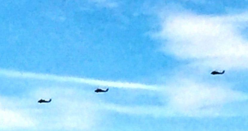 Изтребители и хеликоптери над Варна (снимки)