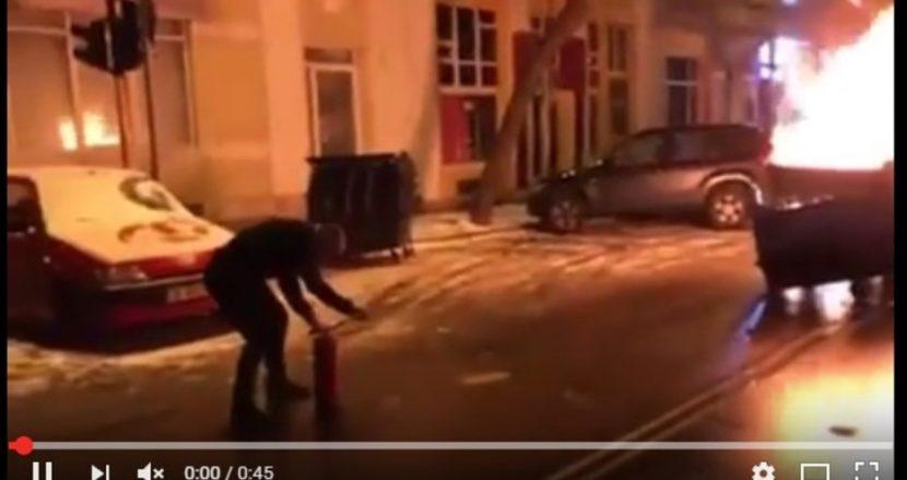 Варненски полицай предотврати взрив минути след Нова година (видео)