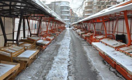 Синият пазар опустя в студа (снимки)