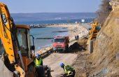 Пътят за крайбрежната алея ще бъде отворен към средата на април
