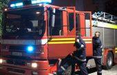Пожар горя в корабостроителен завод