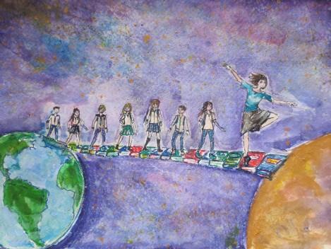 "Две ученички са победители в Националния конкурс за рисунка ""Моят учител е супергерой"""