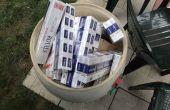 Нелегални цигари в бидони и кашони от сусамки задържаха във Варненско
