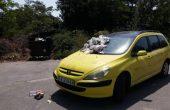 Наказателна акция за автомобил край Варна