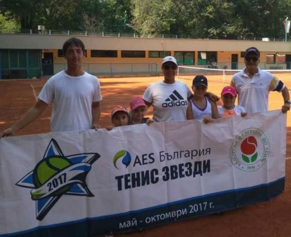 Над 20 деца от Варна се включиха в открит урок по тенис