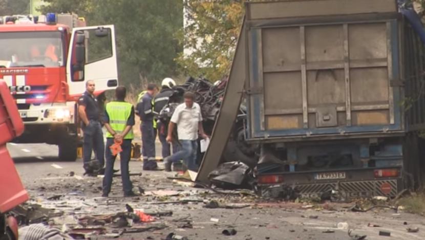 Видео от тежката катастрофа на пътя Варна – Добрич