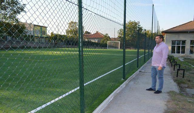 Модерно спортно игрище откриват в двора на Дневния център