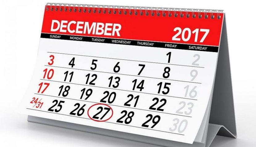 При работа на 27.12.2017 г. заплащането е като в почивен ден