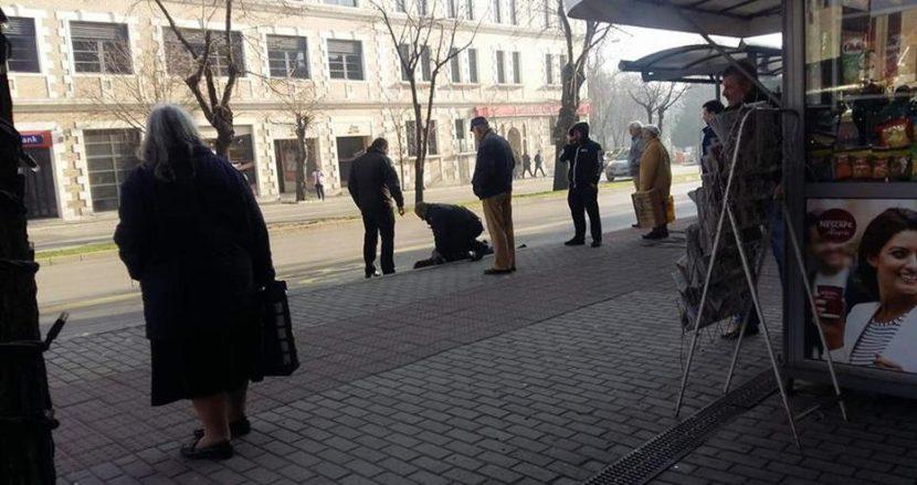 Първо в Будна Варна: задържането на крадлата в центъра (видео)