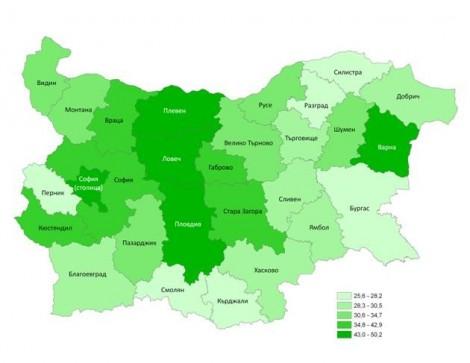 Колко е населението във Варна и областта към края на 2017-та