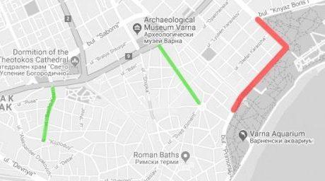 """Варненци предлагат автомобили да пресичат част от пешеходната зона на бул. """"Княз Борис І"""""""