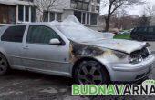 Кола горя на пътя Златни пясъци - Варна