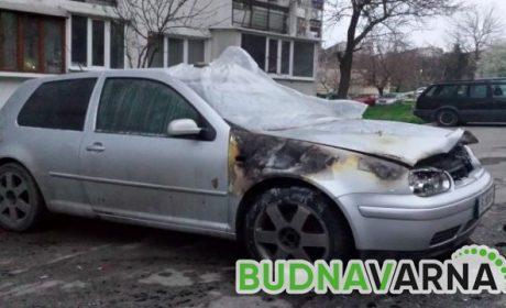 Кола горя на пътя Златни пясъци – Варна