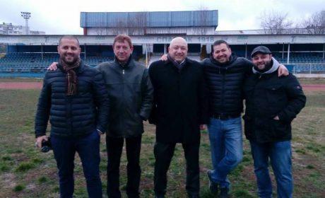 """Красен Кралев стъпи на стадион """"Спартак""""! Вдигат нова трибуна"""