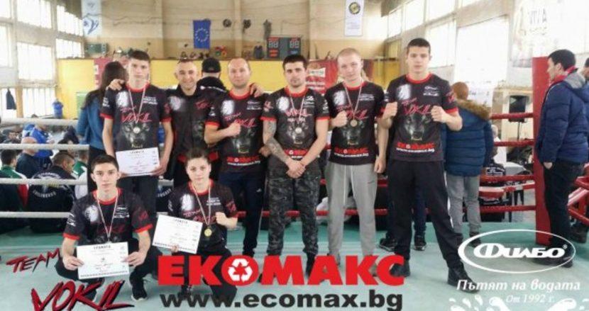 """""""Вокил"""" взе 5 медала от държавното по кикбокс, Румина Георгиева шампионка"""