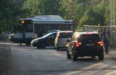 Катастрофа между автобус и кола блокира ул.