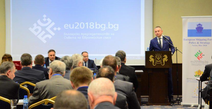 Иван Портних откри Европейски форум за морски транспорт