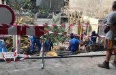 3 месеца работниците от строежа на пропадналата улица са източвали подпочвени води