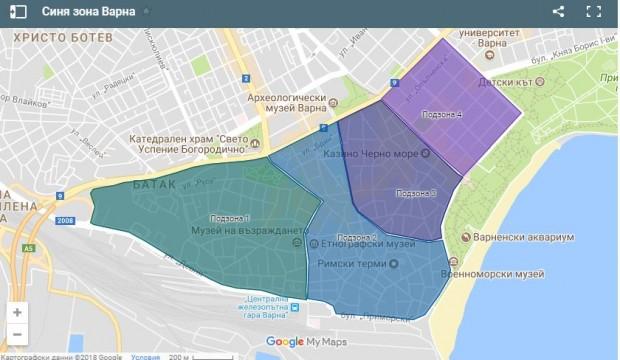"""""""Синята зона"""" във Варна стартира от утре – 11 юли"""