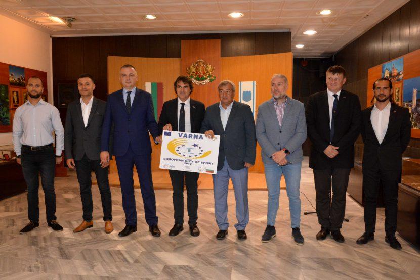 Иван Портних посрещна делегация от Асоциацията на европейските столици и градове на спорта