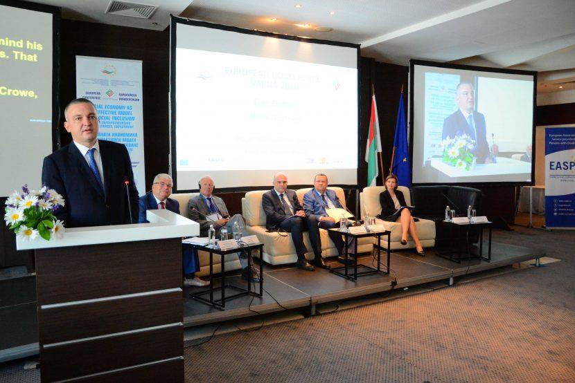 Иван Портних поздрави участниците в Европейската конференция за социална икономика