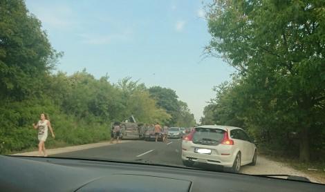 Автомобил се обърна край Приселци