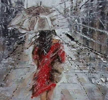"""Днес в """"CHEERS ART CLASS"""" ще се рисува """"дама под дъжда"""""""