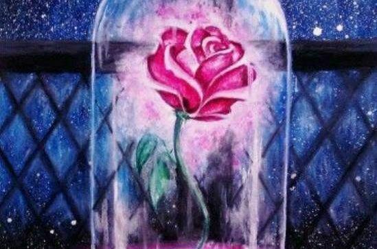 """Днес в """"CHEERS ART CLASS"""" ще се рисува """"розата от Красавицата и звярът"""""""