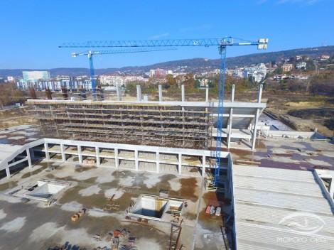 """Ето как върви изграждането на стадион """"Варна"""" (снимки)"""