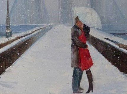 """Днес в """"CHEERS ART CLASS"""" ще се рисува """"романтична зимна среща"""""""