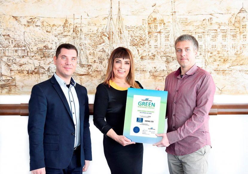 Холандската компания Варна Конфекция получи удостоверение за зелена енергия