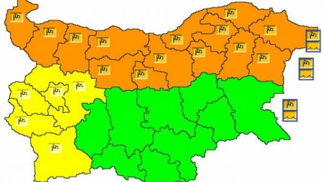 Оранжев код за утре във Варна