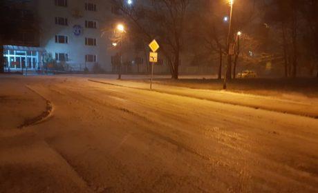 Снежна буря над Варна (видео)