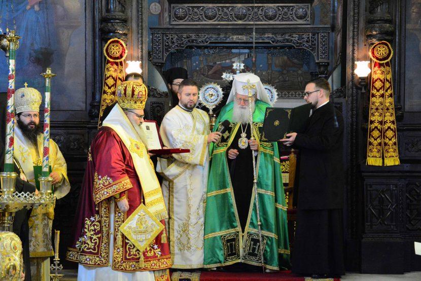 Патриарх Неофит отслужи литургия по повод юбилея на митрополит Йоан