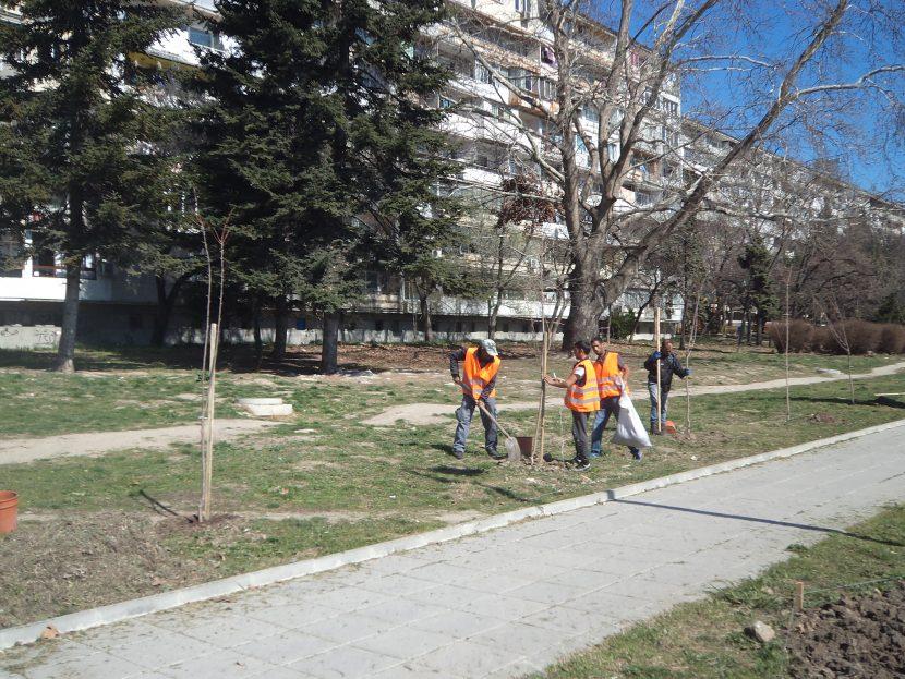 """Започна пролетно засаждане на дървета и цветя в район """"Младост"""""""