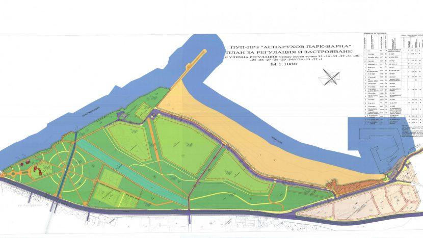 Приеха Подробния устройствен план на Аспарухов парк.