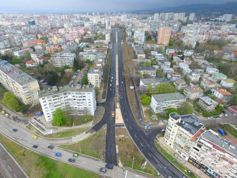"""Как изглежда булевард """"Левски"""" броени дни преди откриването му (видео)"""