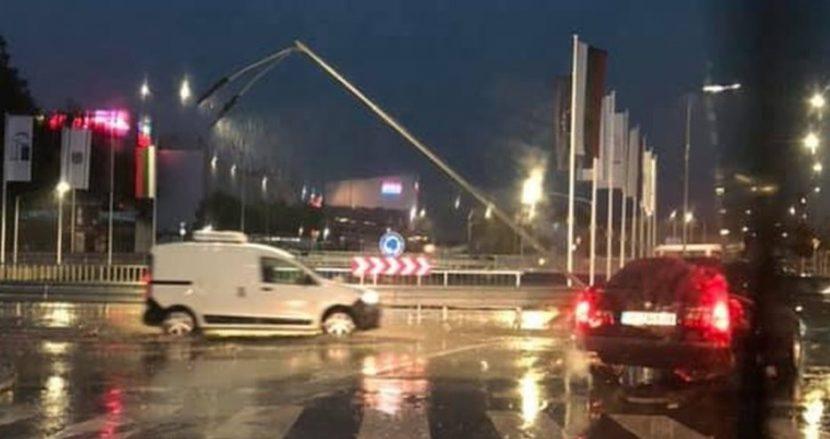 Кръстовище над новия варненски булевард пропадна (видеа)