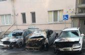 Три коли опожарени в центъра на Варна