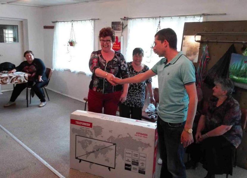 По инициатива на организацията на ГЕРБ – Вълчи дол бяха подарени телевизори на пенсионерски клубове