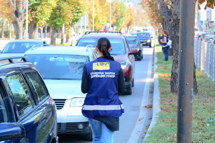 """Обезопасяват допълнително пешеходна пътека на бул. """"Осми Приморски полк"""""""