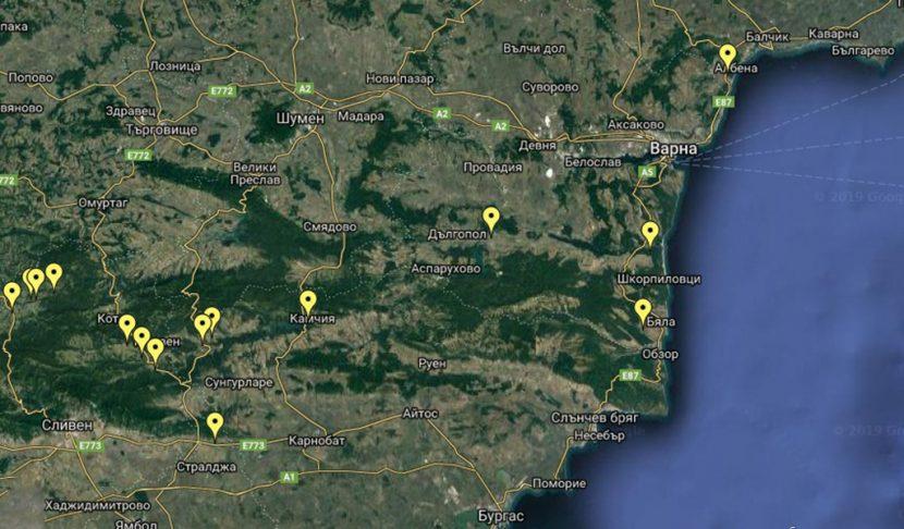 Карта показва къде във Варненско може да се добие злато